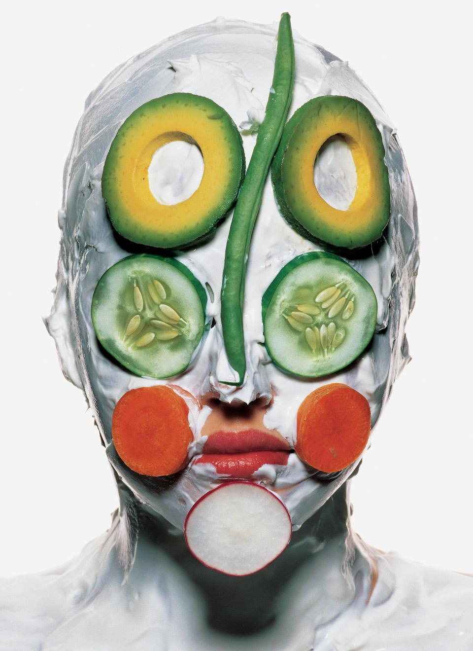<i>Vegetable Face,</i> photo by Irving Penn, 1995. © The Irving Penn Foundation.