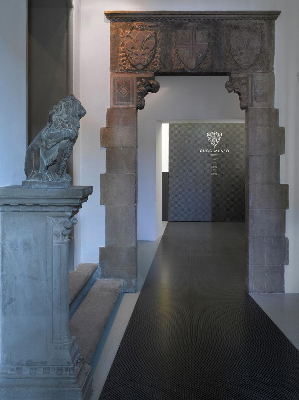 Entrance to the Gucci Museum. Photo courtesy of Richard Bryant & GUCCI.