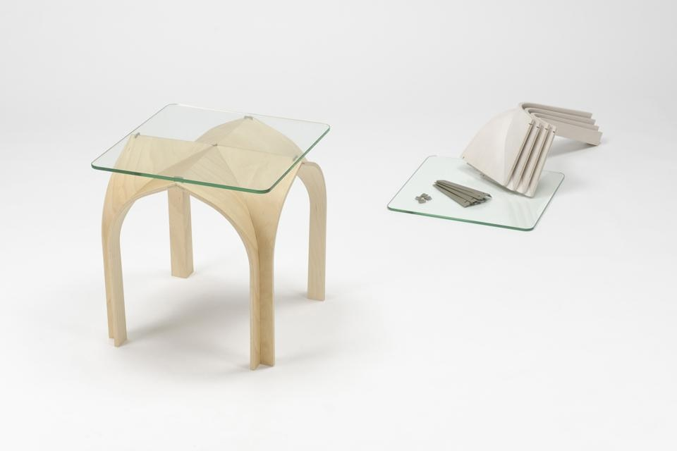 Cathedral, a Gothic-inspired side table designed by students of Kobe Design University.