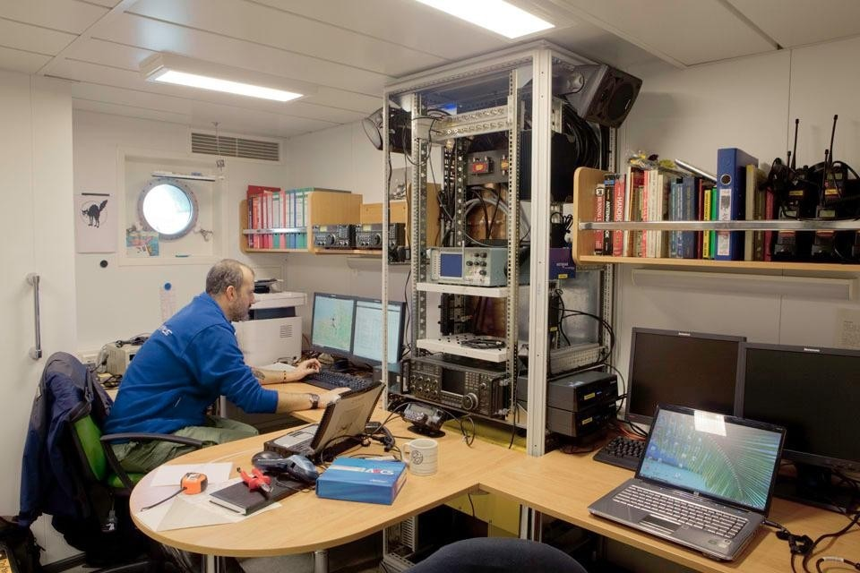 A secure radio room with