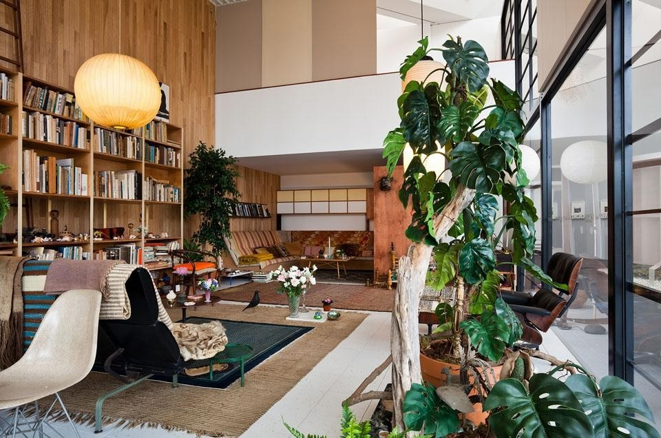 "<i>California Design, 1930–1965: ""Living in a Modern Way,""</i> Los Angeles County Museum of Art. The entire living room of the Eames House has been reconstructed for the exhibition. © Eames Office LLC, photo © 2011 Museum Associates/LACMA."
