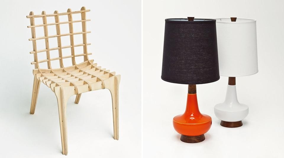 Left: Diatom Studio, <em>Sketch Chair</em>, an example of open-source software enabling an item of furniture to be