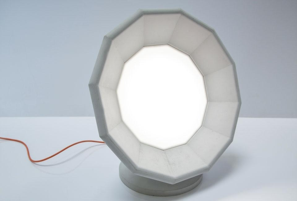Matali Crasset's lamp for Concrete by LCDA