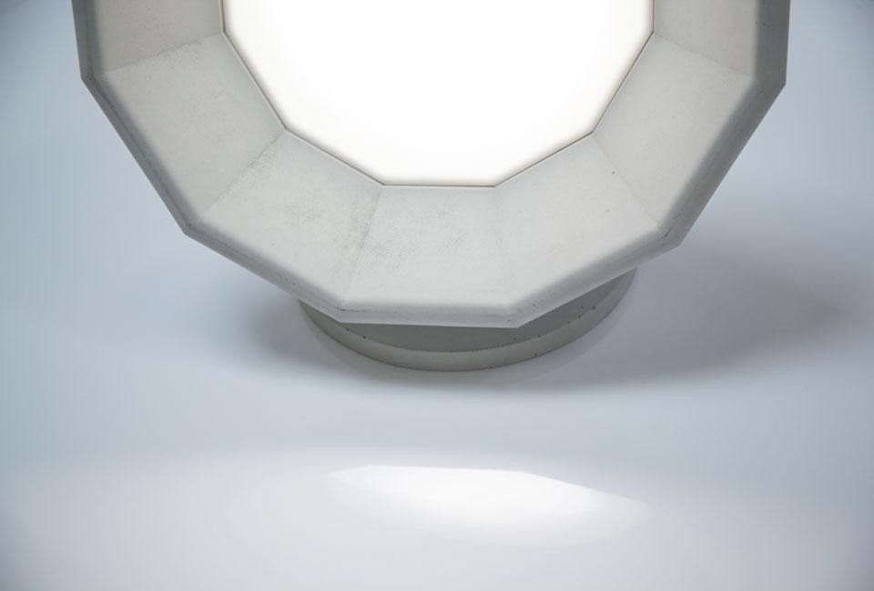 Detail of Matali Crasset's lamp for Concrete by LCDA