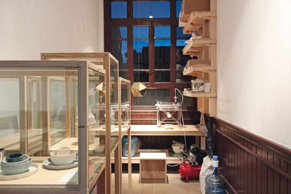 Top: Ceramic objects made by