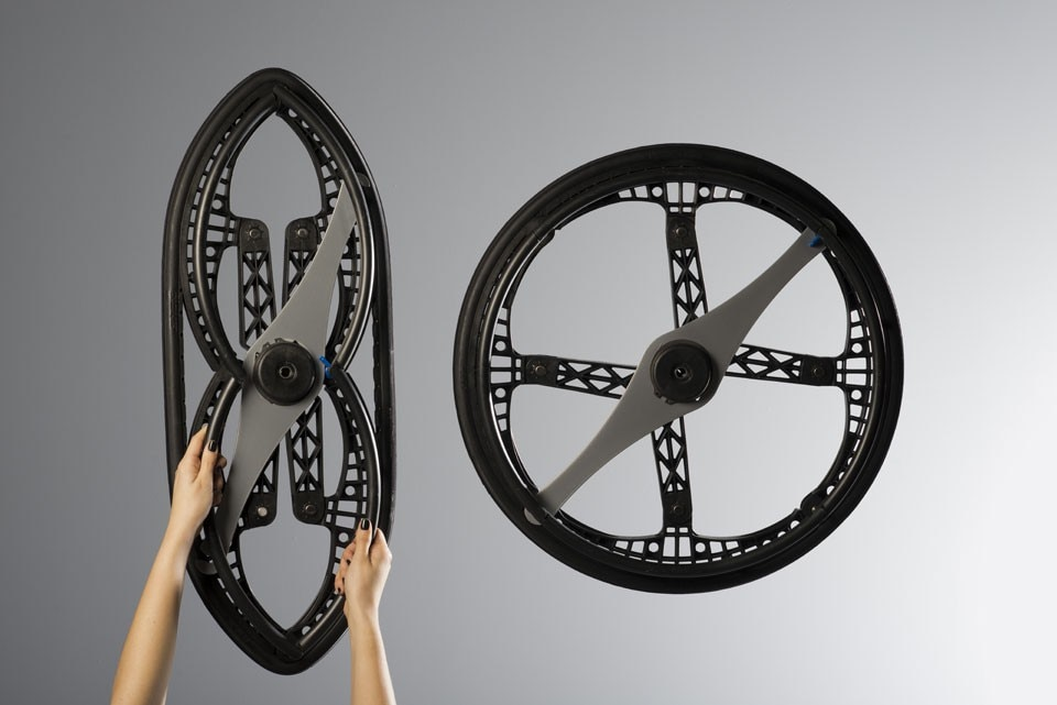 MORPH FOLDING WHEEL - Designed by Vitamins for Maddak Inc.