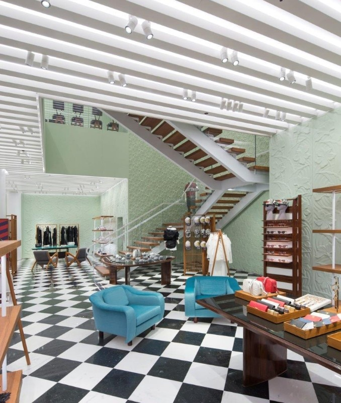 The new Prada showroom in Miami features Art Déco and Brazilian ...