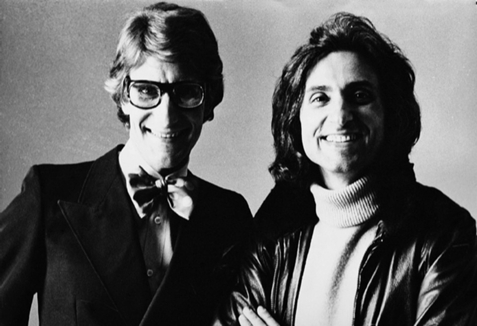 Flavio Lucchini with Yves Saint Laurent