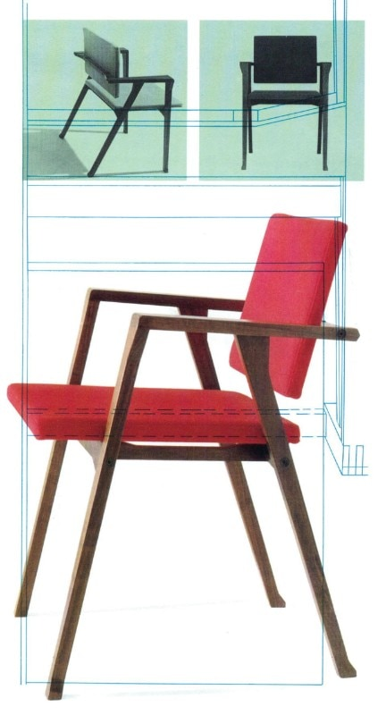 Luisa  armchair (1949 prototype, 1955, manufactured by Poggi.