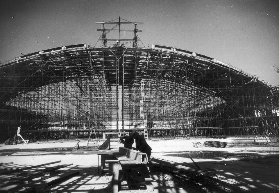 Vault of the exhibition hall under construction