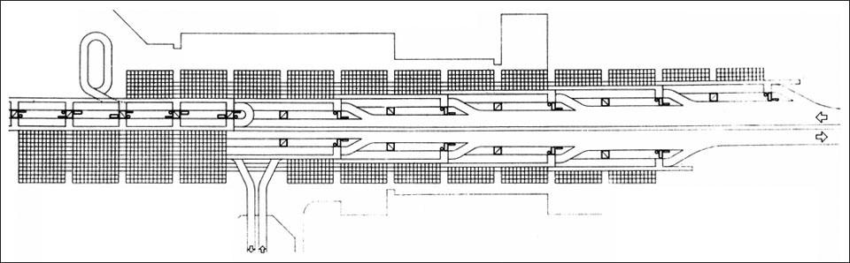 Plan of the modular structure.