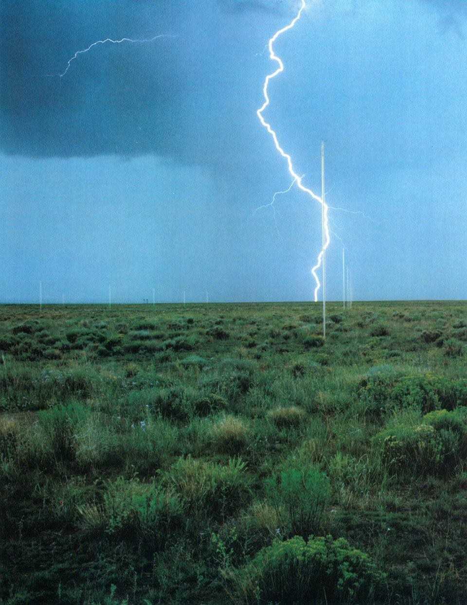 <i>Lightning Field.</i> Date: 8-79. Time: afternoon. Site: interior. Direction: north lightning.