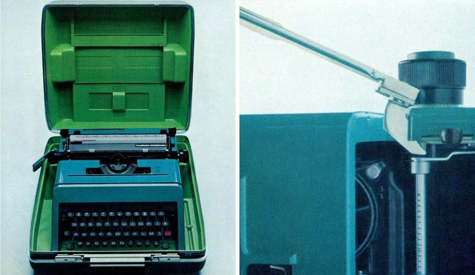The Olivetti Studio 45, designed by Ettore Sottsass Jr. with Hans von Klier.