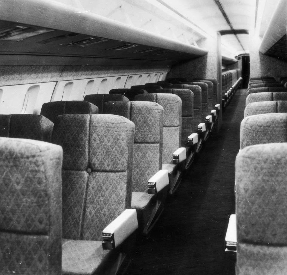 Scale model of the Concorde 001 prototype interiors. Photo by Sud-aviation, 1967