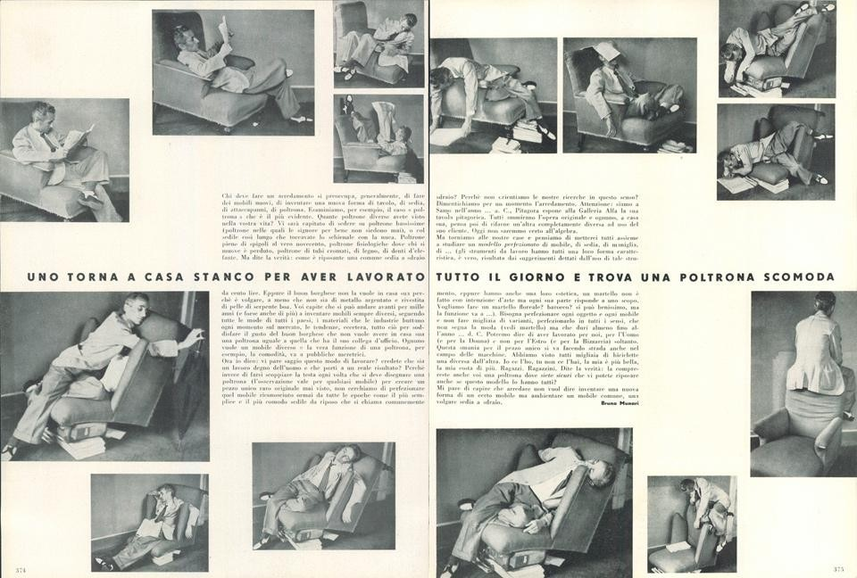 Bruno Munari: searching for comfort in an uncomfortable chair