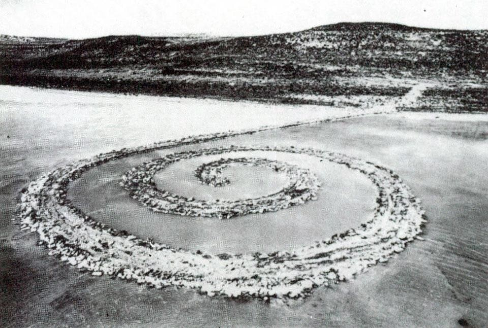 Domus 531 / February 1974 page detail. <em>Spiral Jetty</em>, Great Salt Lake, Utah, 1970