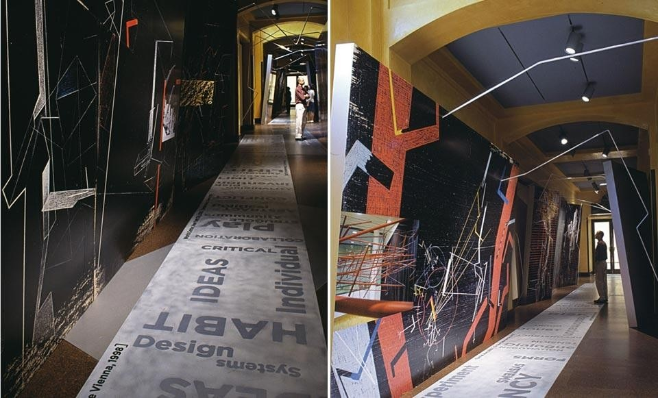 Installation views of the exhibition <em>Lebbeus Woods: Experimental Architecture</em>, at the Carnegie Museum of Art in Pittsburg, through 16 January 2005