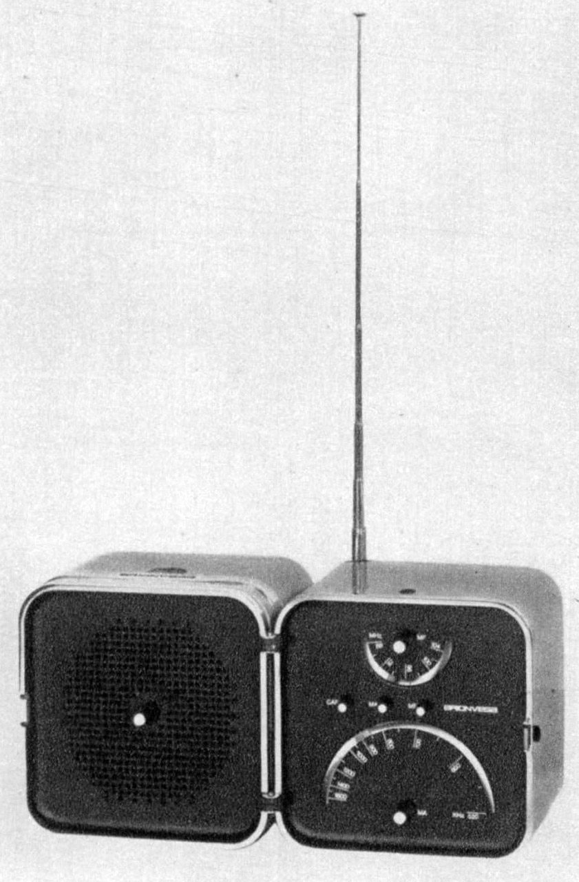 Marco Zanuso and Richard Sapper, ts 502 portable radio-receiver for Brionvega. From the pages of Domus 461 / July 1968