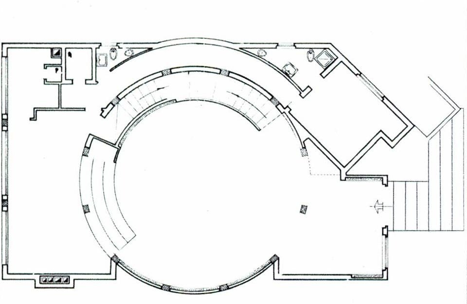 Ground floor plan. From the pages of Domus 531 / February 1974