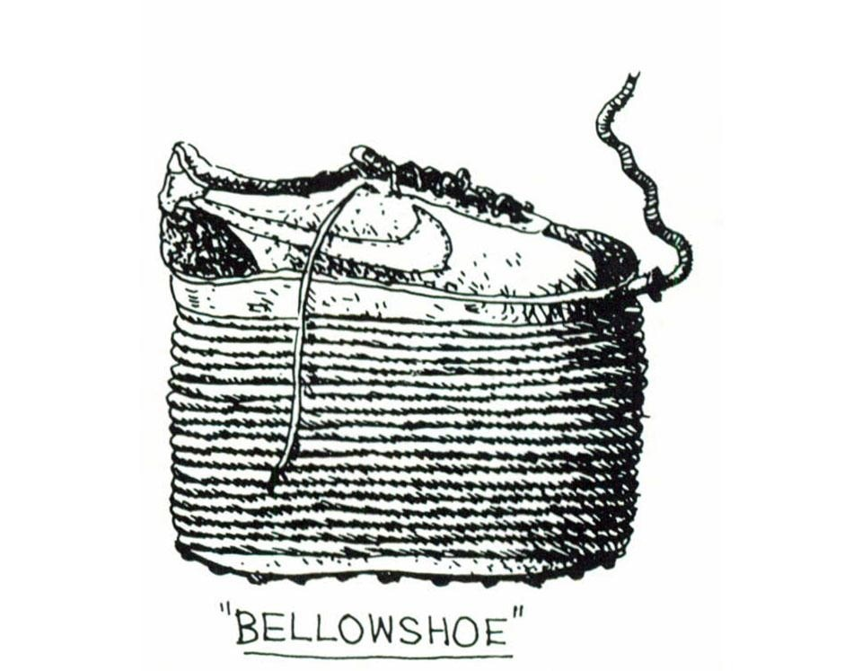 Philip Garner, Bellowshoe, sketch. From the pages of Domus 621 / October 1981