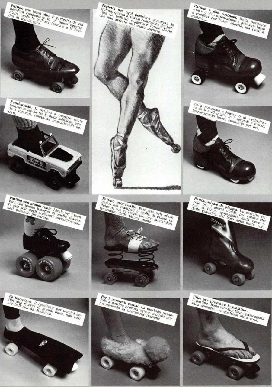 Philip Garner, series of rollerskates. From the pages of Domus 621 / October 1981