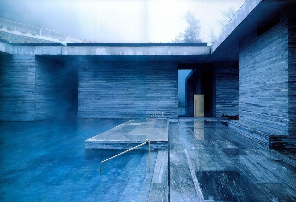 Peter Zumthor, Termal Bath in Vals, 1996. Photo Margherita Spiluttini