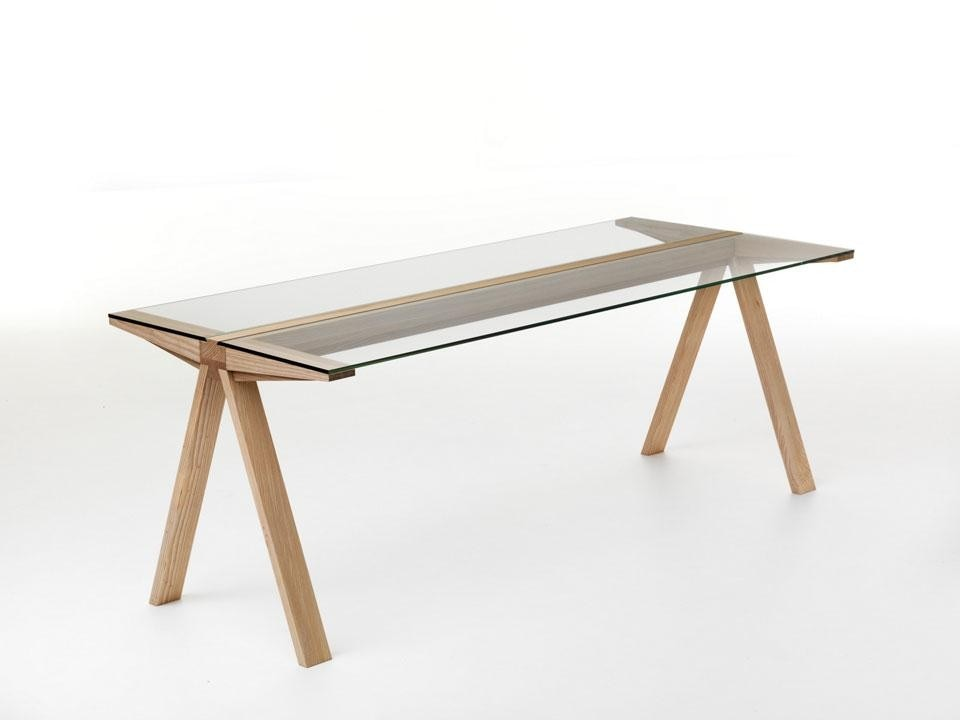 Francesco Faccin, <em>Traverso</em> table. The project for the table focuses on the main center beam. and is inspired by Enzo Mari's <em>Frate</em> table for Driade
