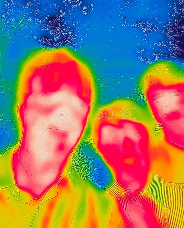 Meteo. Thermographic image from the 16th International Architecture Exhibition in Venice