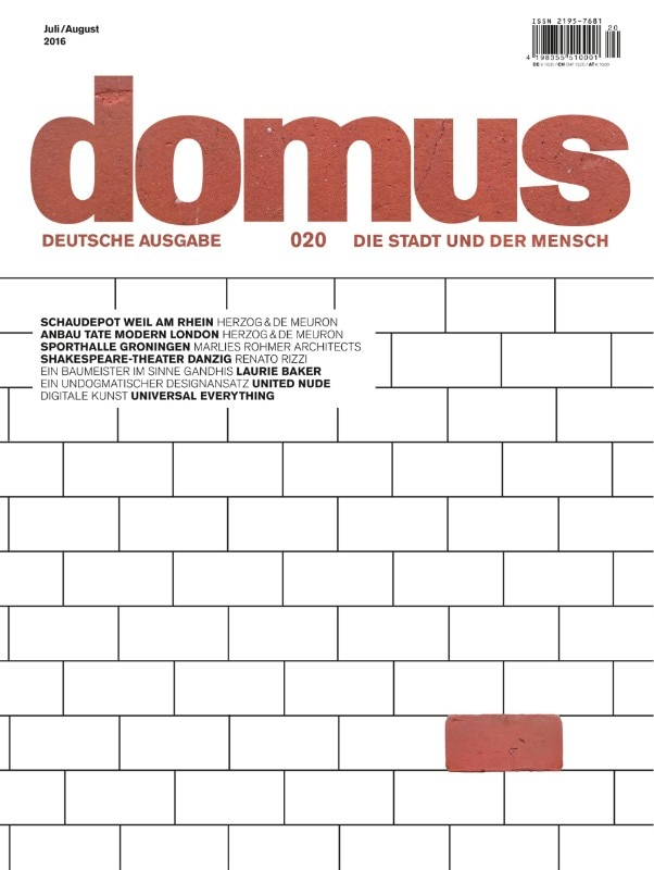 Domus Germany 20, July–August 2016
