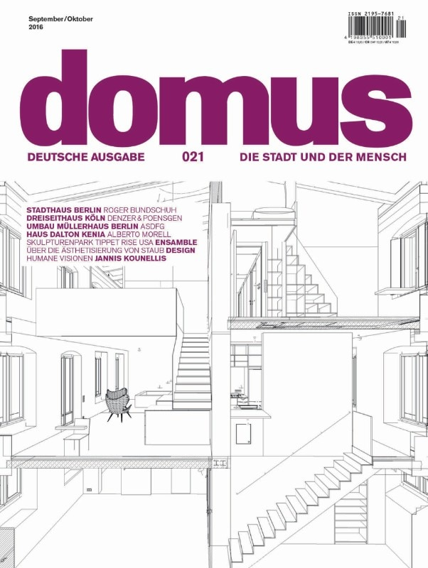 Domus Germany, September–October 2016, cover