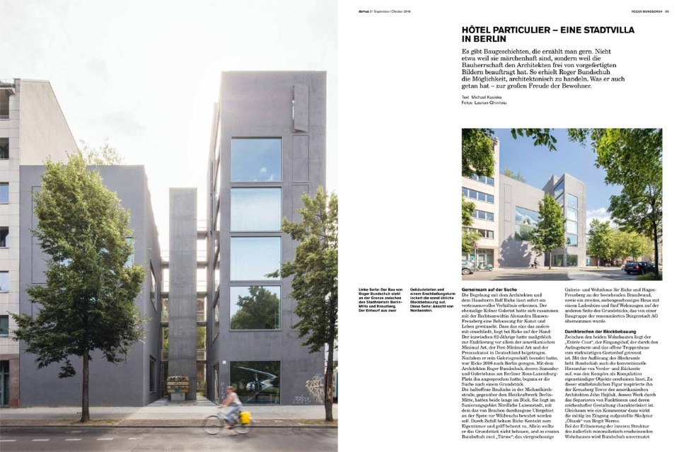 Domus Germany, September–October 2016