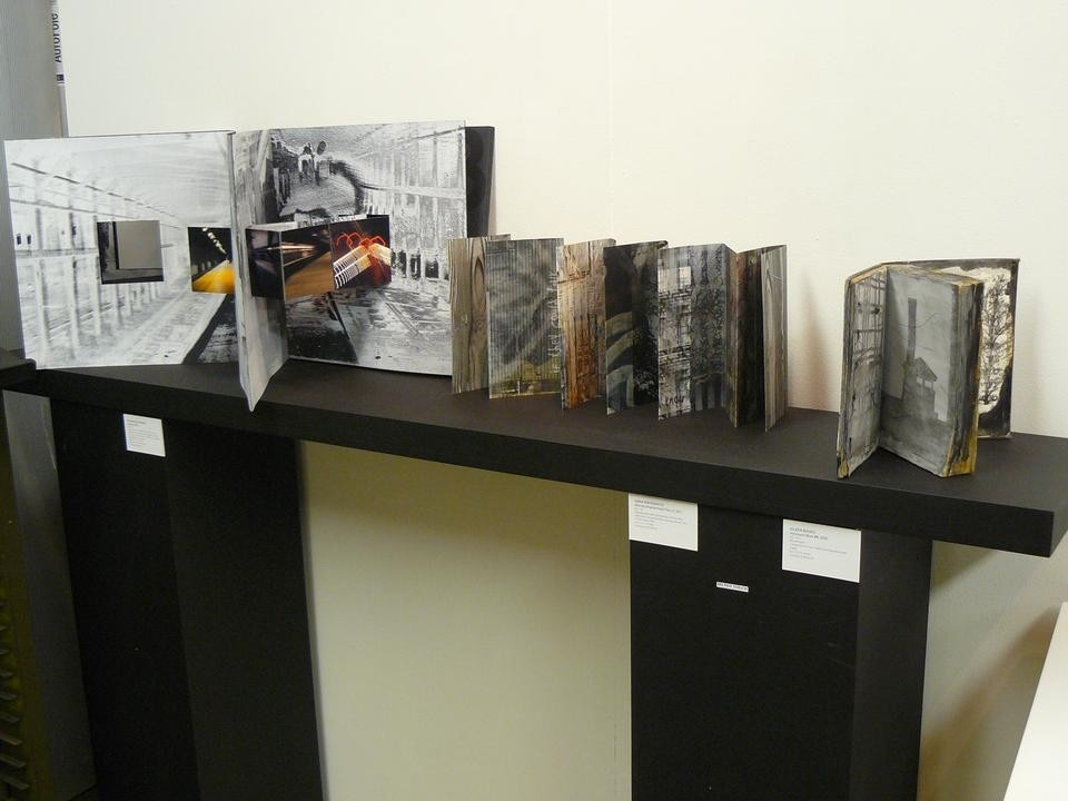 Installation view of <i>The Un(framed) Photograph</i> at the Center for Book Arts.