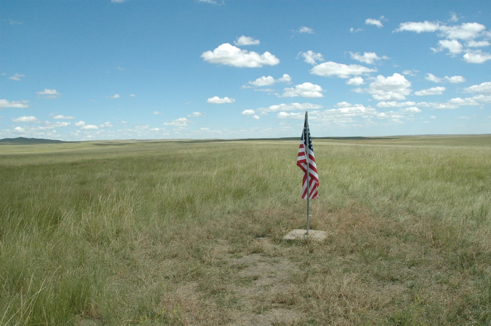 The geographic center of the 50 states, Belle Fourche, South Dakota. CLUI Archive Photo.