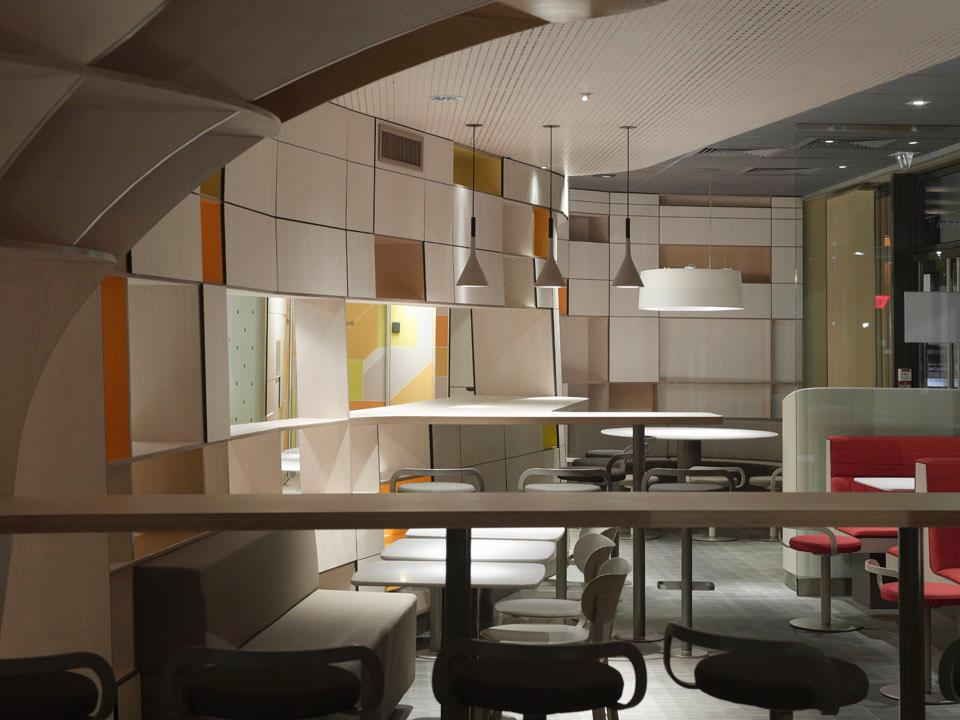 New interior design for McDonald's by Patrick Norguet