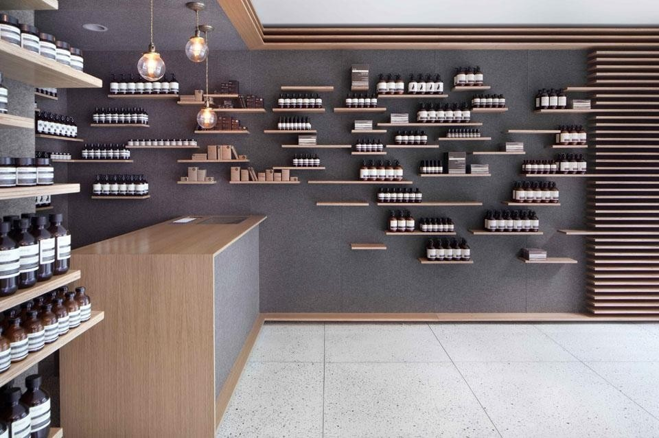 aesop opens a new shop in new york domus. Black Bedroom Furniture Sets. Home Design Ideas