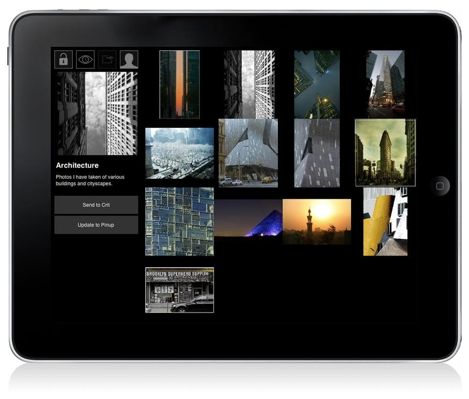 The Morpholio app by Anna Kenoff and Mark Collins for the iPad.