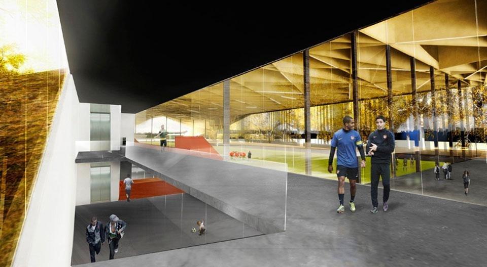 Centre de soccer int rieur domus for Domus interieur