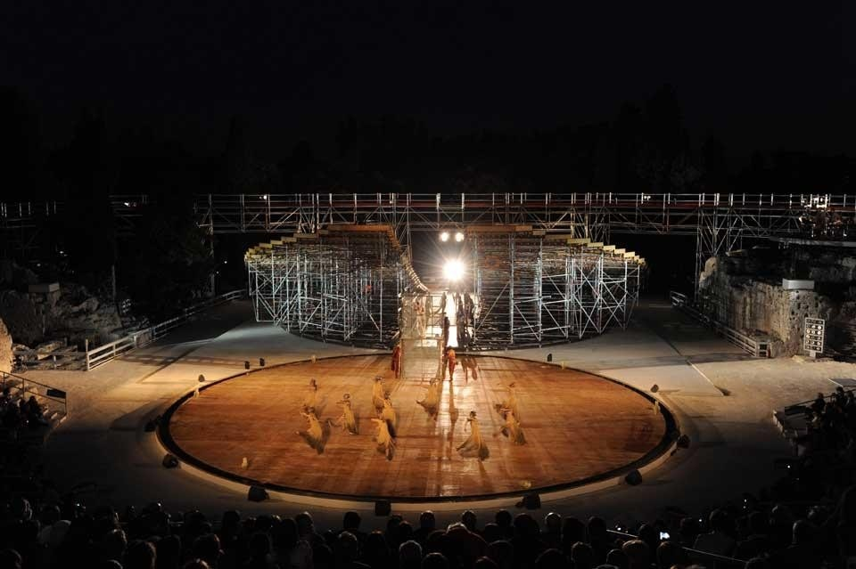 OMA, set design for <em>Prometheus Unbound</em>, Greek Theatre in Syracuse