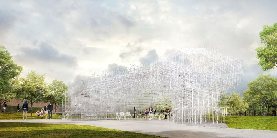 Top and above: Sou Fujimoto, Serpentine Gallery Pavilion 2013, indicative CGI. © Sou Fujimoto Architects