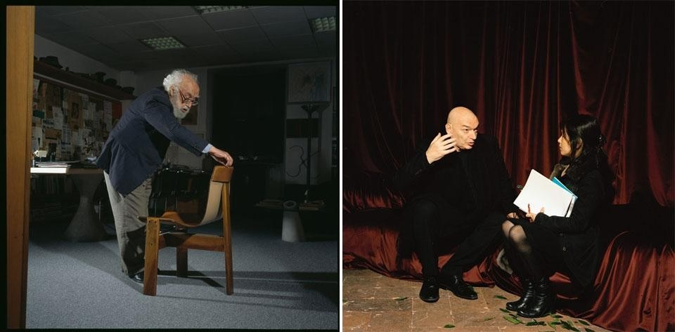 Left, Angelo Mangiarotti. Right, Jean Nouvel