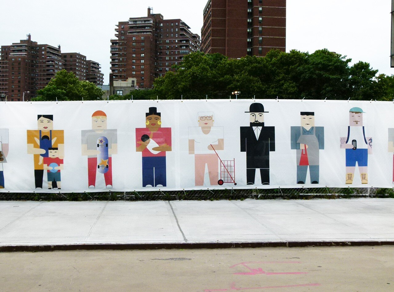 Constantin and Laurene Boym, LES History Fence, 2014