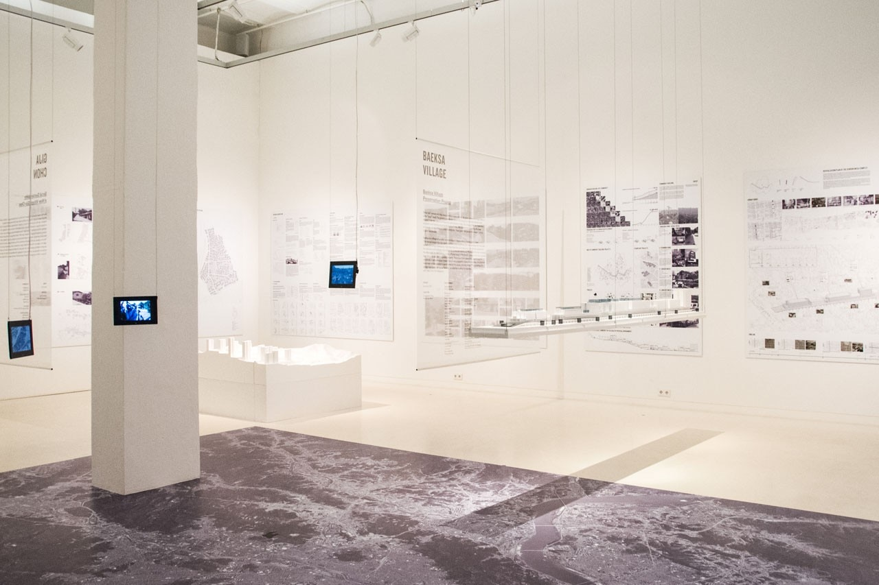 """Seoul: Towards a Meta-City"" at Aedes am Pfefferberg. Exhibition view"