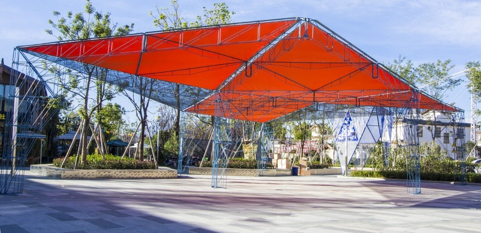 People's Architecture Office, Tangram Canopy, Lijiang, Yunnan, China