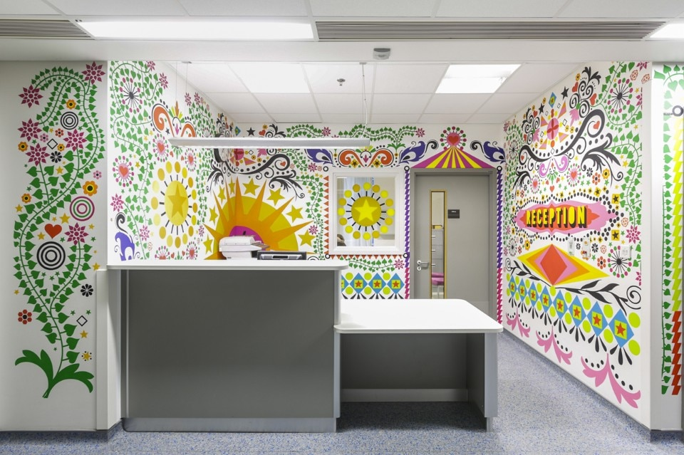 Vital Arts, Morag Myerscough, 2012, The Royal London Children's Hospital. Photography Gareth Gardner
