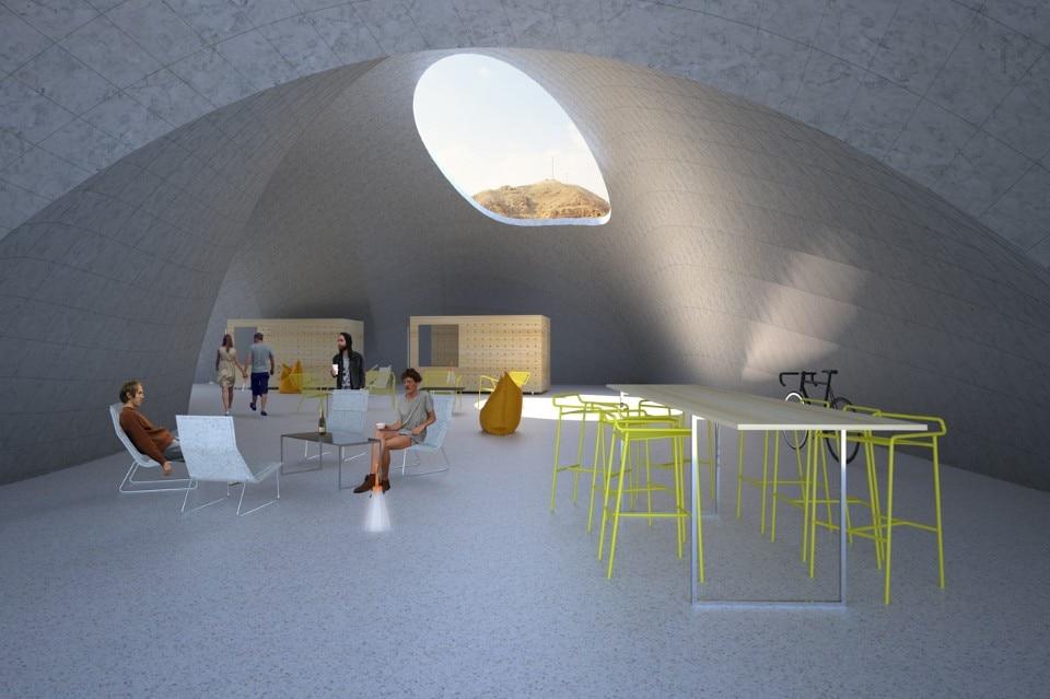 AAU Anastas, el-Atlal, living space perspective