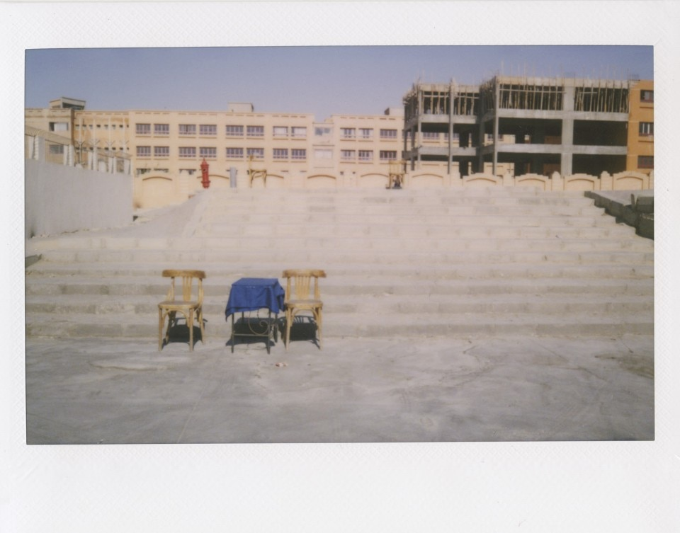 Manar Moursi and David Puig, Sidewalk Salon: 1001 Street Chairs of Cairo