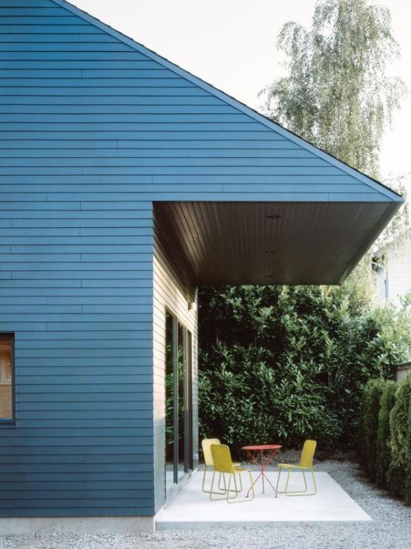 Garden house domus for Rainwater falls massage