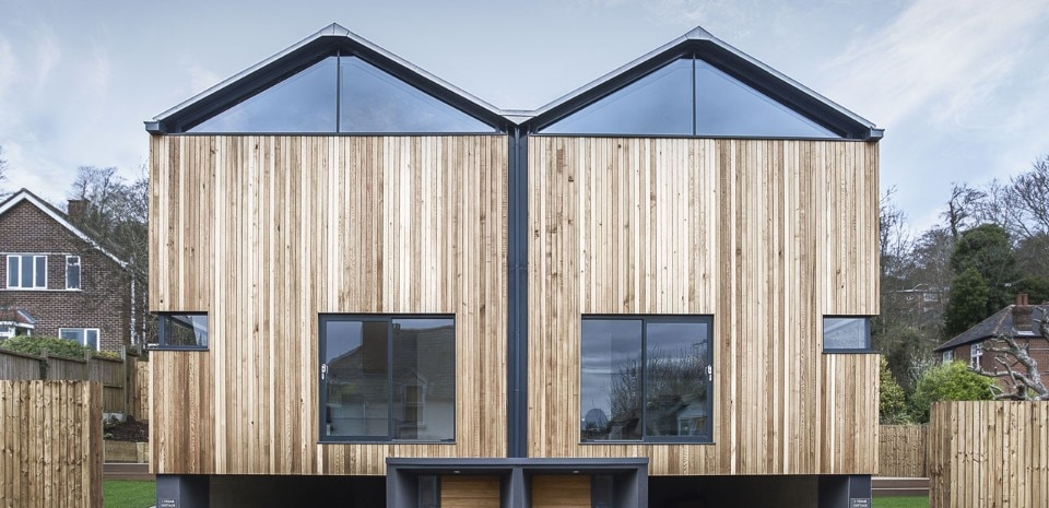 Adam Knibb Architects, The Cedar Lodges, Winchester, Hampshire, UK
