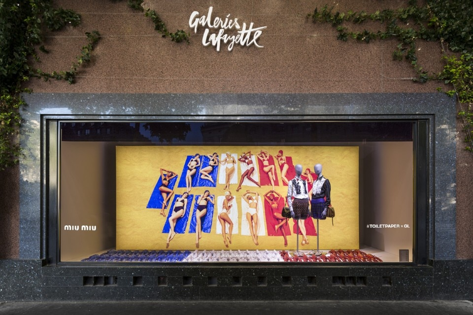 Toiletpaper at Galeries Lafayette, Paris, 2016