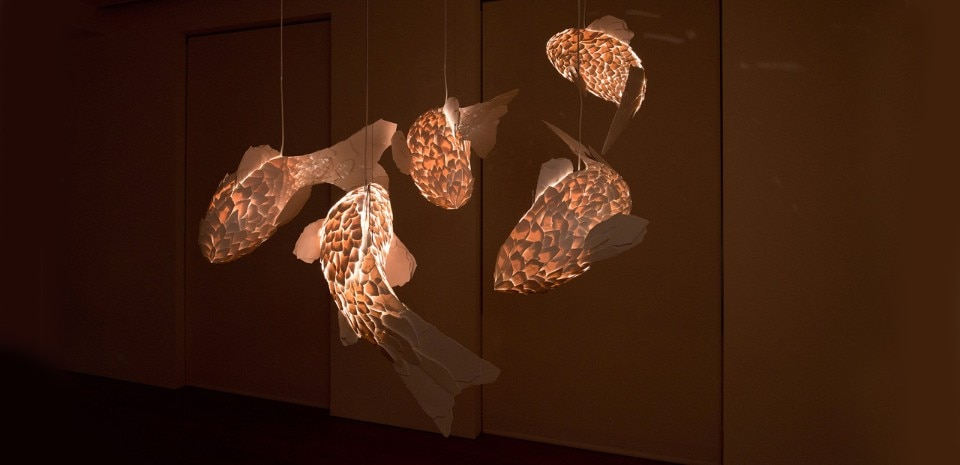 Frank Gehry, Fish Lamps At The Gagosian Gallery, Rome, 2016